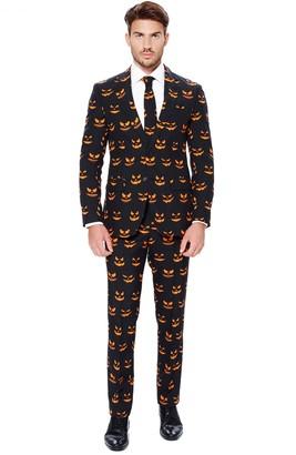OppoSuits Men's Slim-Fit Spooky Novelty Suit & Tie Set