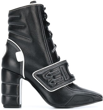 Off-White Touch Strap Ankle Boots