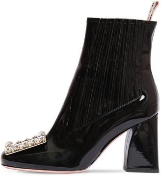 Roger Vivier 85mm Tres Vivier Patent Leather Boots