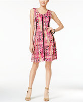 NY Collection Printed A-Line Dress