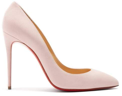 buy online 911f7 04bcf Pigalle Follies 100 Suede Pumps - Womens - Light Pink
