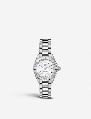 Tag Heuer WBD1411.BA0741 Aquaracer mother-of-pearl and steel watch