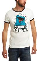 Logoshirt Sesame St. Cookie Monster Almost /Deep Logo Men's T-Shirt almost /deep,X-Large