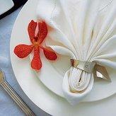 Autumn Rose Wedding Weddingstar 6062 Silver Swish Napkin Rings