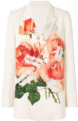Undercover Rose-Print Blazer