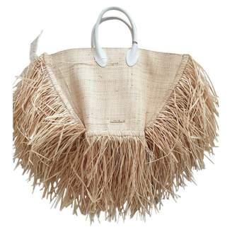 Jacquemus Le Baci Beige Wicker Handbags
