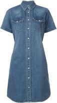Sacai belted denim shirt dress