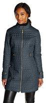 Via Spiga Women's Lightweight Quilted Jacket Military Collar