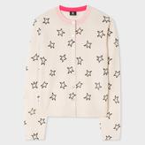 Paul Smith Women's Taupe Merino Wool Cardigan With Flocked 'Stars'