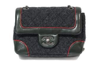 Chanel Timeless/Classique Grey Tweed Handbags