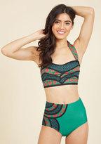 Set the Serene Swimsuit Bottom in Emerald in L