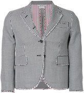 Thom Browne frayed checkered blazer