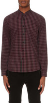 The Kooples Checked slim-fit cotton shirt