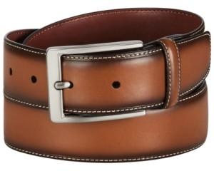 Perry Ellis Men's Burnished Leather Belt