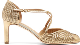 Salvatore Ferragamo Elvire woven-leather pumps
