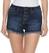 Mudd Juniors' High Waist Frayed Shortie Shorts