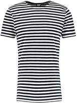 Urban Classics Stripe Print Tshirt Navy/white