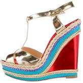 Christian Louboutin Metallic Wedge Sandals