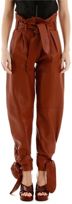 ATTICO Belted Detail Panelled Pants