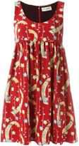 Saint Laurent printed babydoll dress