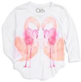 Chaser Flamingo Domingo Graphic Long Sleeve Tee (Big Girls)
