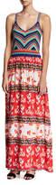 Parker Goldie Knit Combo Maxi Dress, Multicolor