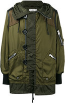 Coach Snorkel military jacket - men - Cotton/Leather/Acrylic/Wool - 46