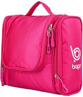 Makeup Bag For Travel Accessories, Toiletry, Makeup, Cosmetic, Shaving, Personal Items - Hanging Toiletries Kit Case For Hotel, Car, Home, Bathroom, Airplane For Women (Pink)
