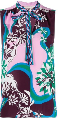 Emilio Pucci Abstract-Print Tank Top