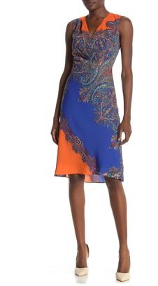 Elie Tahari Agatha Printed Sleeveless Dress