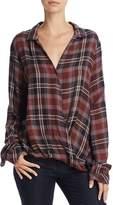 Bella Dahl Draped Crossover Plaid Shirt