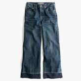 J.Crew Point Sur culotte jean in Blue Poppy wash