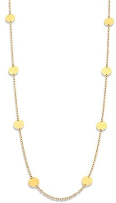 Gurhan 24K Yellow Gold Disc Station Necklace