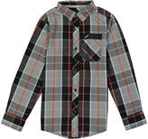 Black Plaid Button-Up - Boys