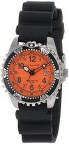 Momentum Women's 1M-DV01O1B M1 Orange Dial Black Rubber Dive Watch