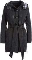 Yoki Women's Car Coats CHARCOAL - Charcoal Toggle-Close Hooded Trench Coat - Women