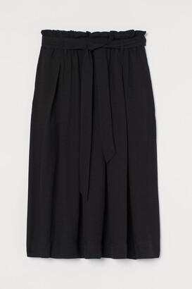 H&M Lyocell-blend Paper-bag Skirt