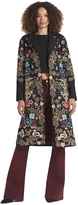 Alice + Olivia Buffy Embroidered Long Coat