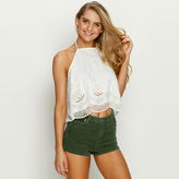 City Beach BAMBAM Mish Embroidered Halter Top