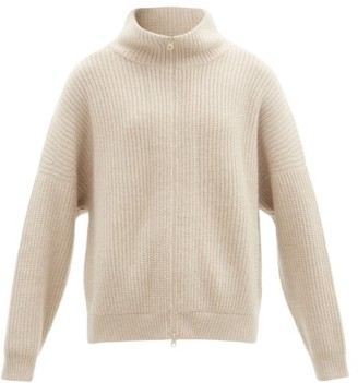 Lisa Yang - Mela Zipped Ribbed-cashmere Cardigan - Beige