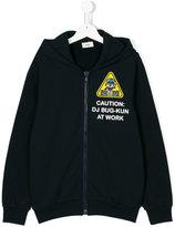 Fendi Teen Bag Bugs caution sign print hoodie