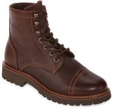 ST. JOHN'S BAY St. John's Bay Sparks Mens Leather Lace Up Boots