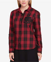 Tommy Hilfiger Plaid Lace-Pocket Shirt, Created for Macy's
