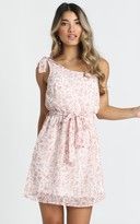Showpo Laura One Shoulder Dress in pink floral - 6 (XS) The Floral