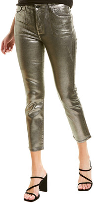 J Brand Ruby Silver Sleepwalker High-Rise Crop