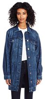 GUESS Women's Long Line Denim Jacket