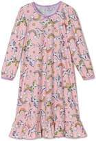 Sara's Prints Girls' Unicorn Puffed Sleeve Nightgown , Toddlers