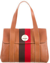 Kate Spade Grosgrain-Trimmed Leather Tote