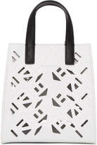 Kenzo White Mini Cut-Out Logo Tote