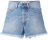 Off-White raw edge denim shorts - women - Cotton - 26